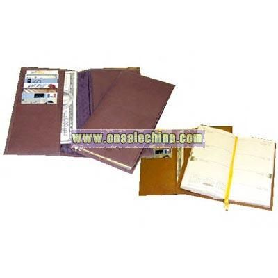 Naked leather executive pocket diary-wallet