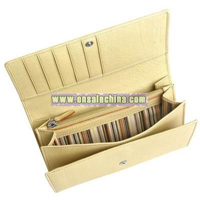 Genuine Leather Tri-Fold Coin Wallet