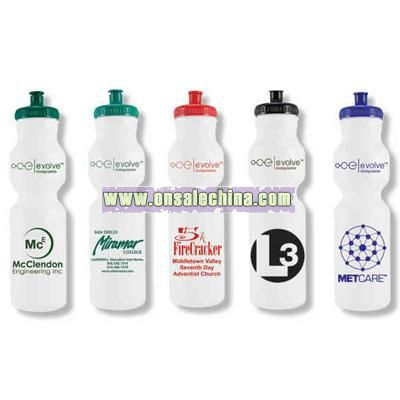 28 ounce eco-friendly water bottle with pop top lid