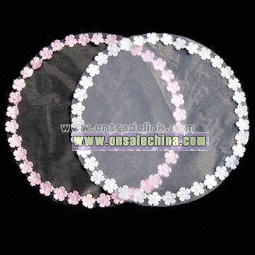 Organza Circles with Flower Edge