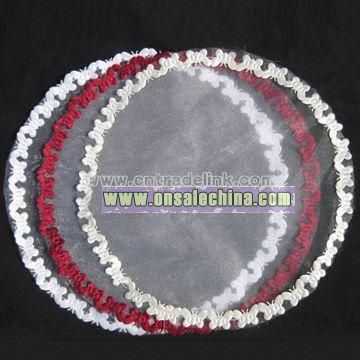 Organza Circles for Wedding Festival Party and Celebration with Butterfly Edge