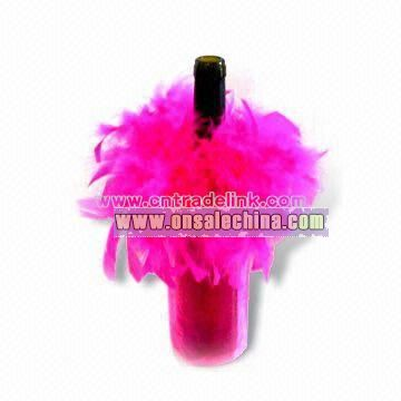Chicken Feather Wine Bottle Cover