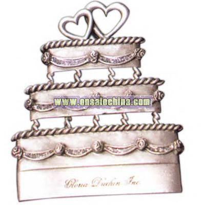 Genuine pewter wedding cake ornament
