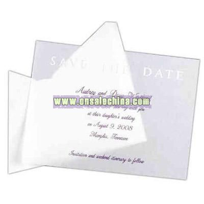 Translucent save the date card.