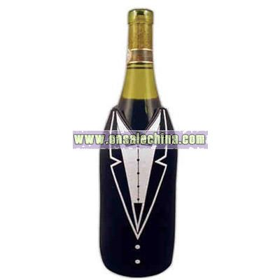 Tuxedo design wine / champagne bottle sleeve