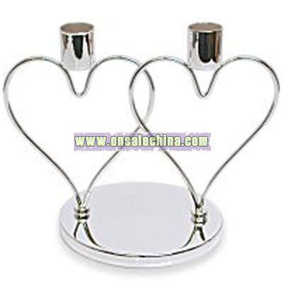 Interlocking Heart Candle Holder