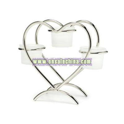 Heart Candle Centerpiece