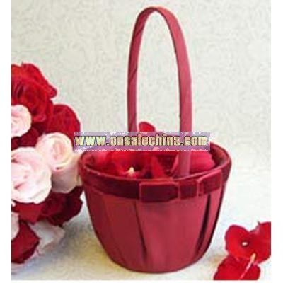 Serenade Bow Flower Girl Basket