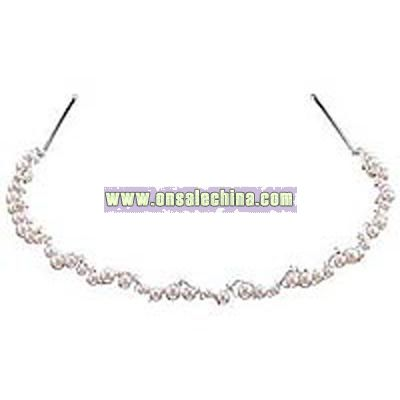Carolee Scalloped Pearl Tiara