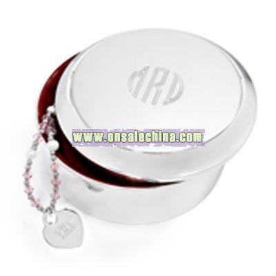 Large Round Jewelry Box