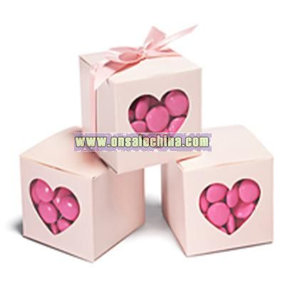 Pink Heart-shaped Window Favor
