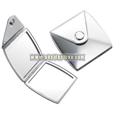 Silver Purse Compact Mirror
