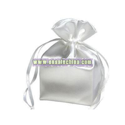 4X6 White Satin Bags