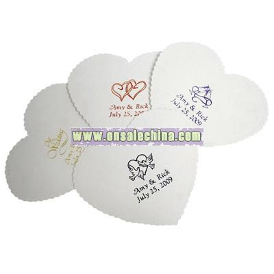 Personalized Heart Coasters