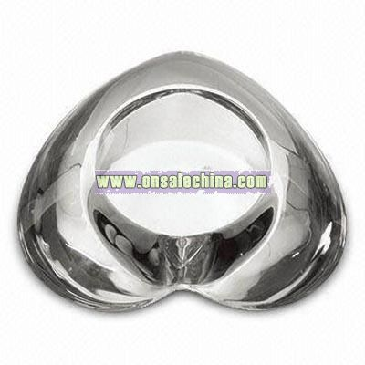 Tealight Heart Shaped Glass Candle Holder