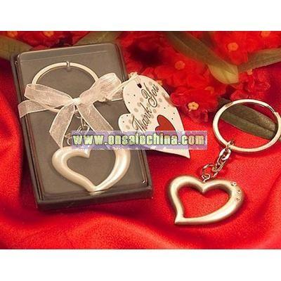 Love heart wedding keychain