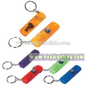 Whistle Light with Compass Key Chain