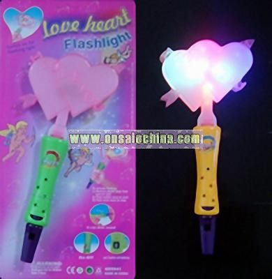 Flashing Valentine Racket with Whistle