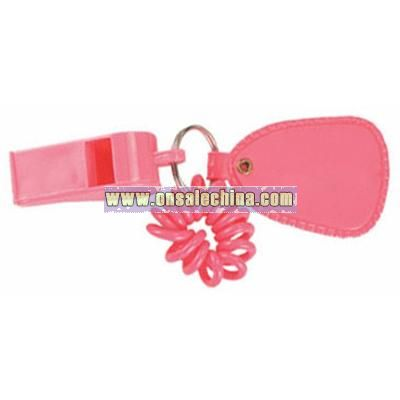 Coil Wrist Bracelet With Whistle