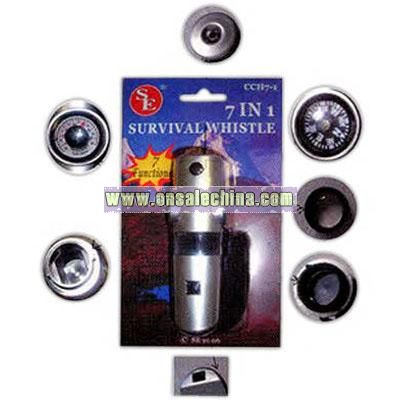 Seven in one survival whistle