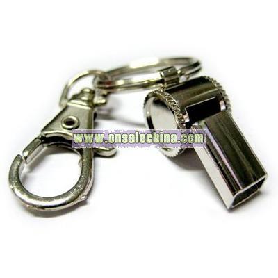 Mini Steel Whistle Keychain