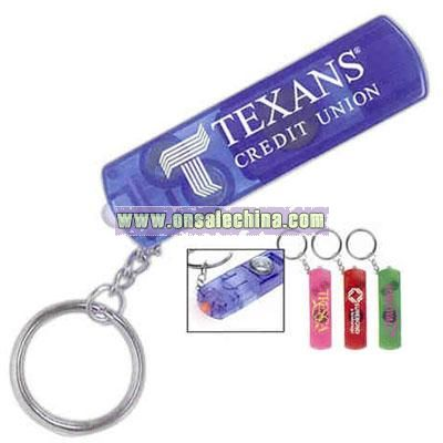 Whistle, compass and light with split keyring.