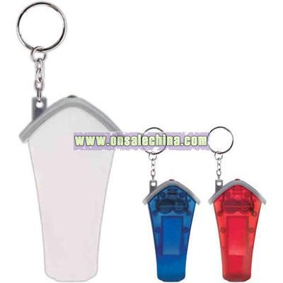 White house shape whistle key light