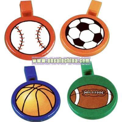 Round sports ball whistle