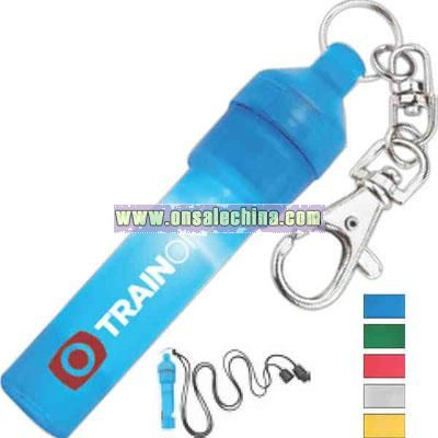 Safety key light whistle