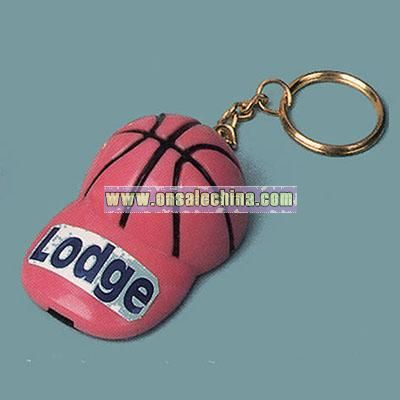 hat shape basketball whistle key chain