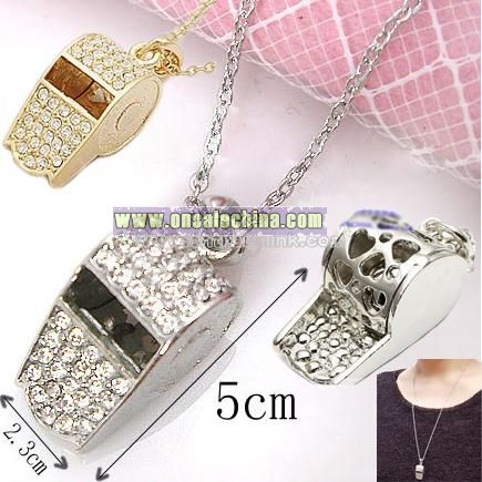 Crystal Whistle Necklace