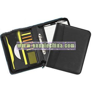 A5 ZIPPED RINGBINDER CONFERENCE FOLDERS