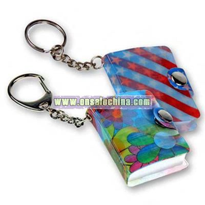 Custom 3D lenticular note book key chain