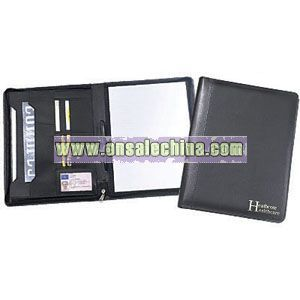 ZIPPED LEATHER CONFERENCE FOLDERS