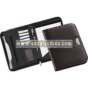A5 LEATHER CONFERENCE FOLDERS