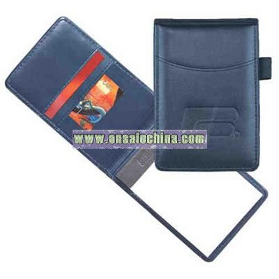Calfhyde simulated leather memo jotter