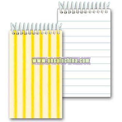 Mini plastic spiral notepad with 3D Lenticular cover