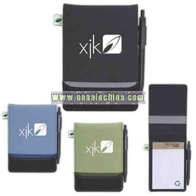 Jotter with exterior pen loop and writing pad