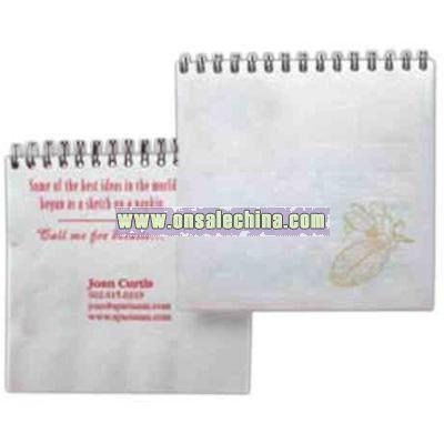 Spiral bound napkin notebook