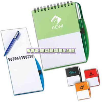 Steno pad with pen