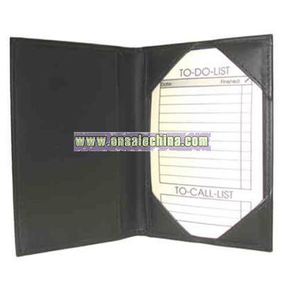 leatherette fold note jotter