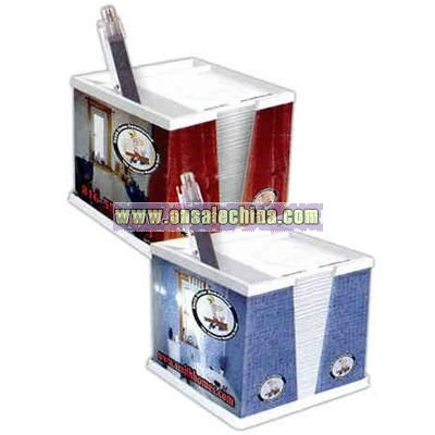Lenticular note and pen holder