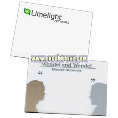Translucent adhesive memo pad