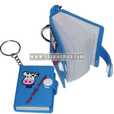 Keychain with notebook