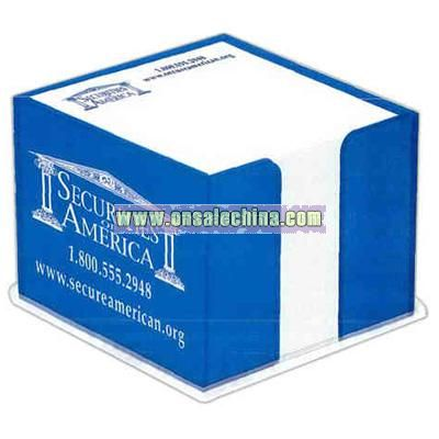 Acrylic note holder includes 600 non-adhesive sheets