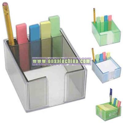 Paper tray with sticky note indexes
