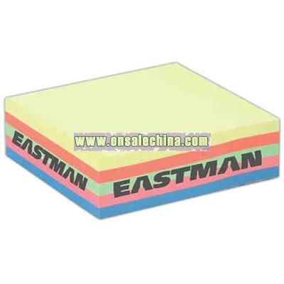 Five-color neon sticky note stack