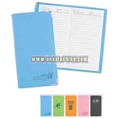 Pocket size notebook with bright soft-touch PVC cover