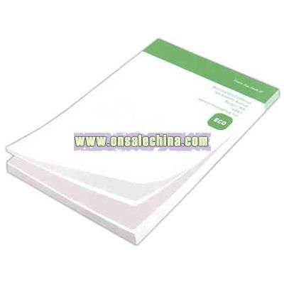 100% recycled paper sticky note pad
