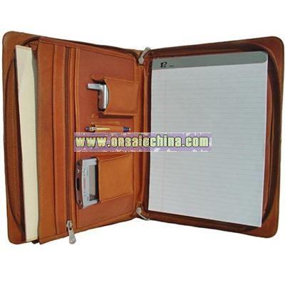 Leather Three-Way Envelope Padfolio